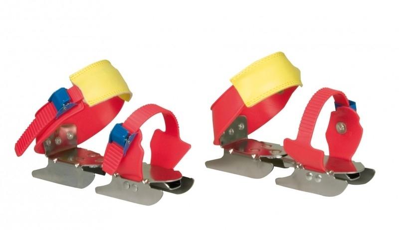 3011  Nijdam Glij-ijzers Verstelbaar • Uni Rood/geel/blauw