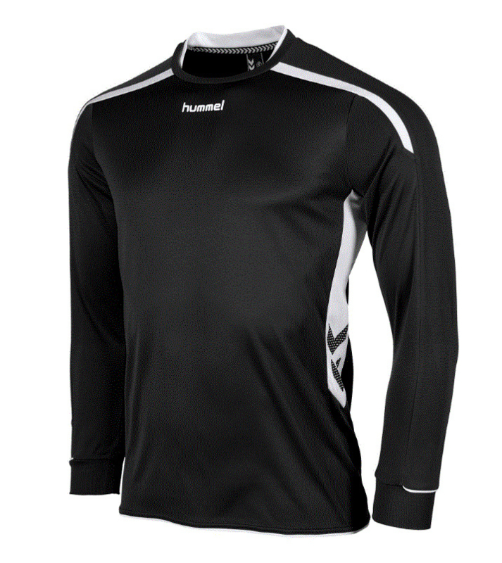 Hummel preston shirt lang zwart/wit (111005-8200)