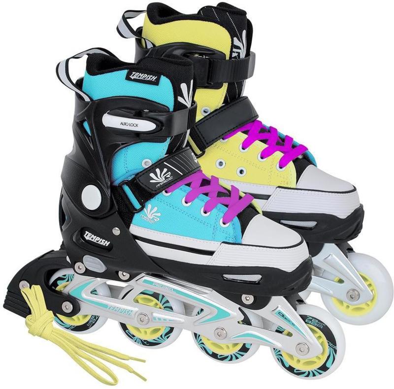 Tempish Magic Rebel inline skate verstelbaar blauw/geel