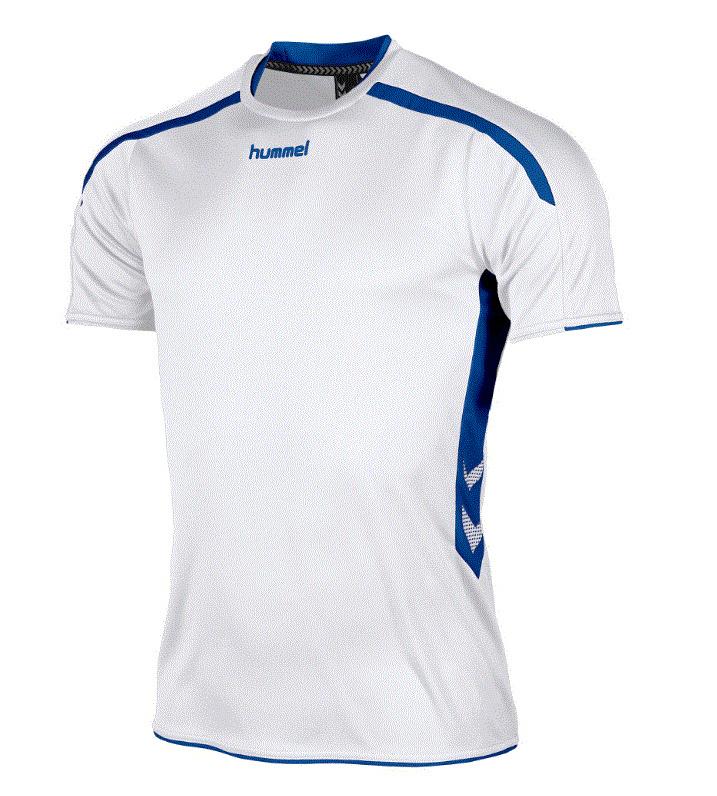 Hummel Preston shirt wit/blauw (110005-2500)