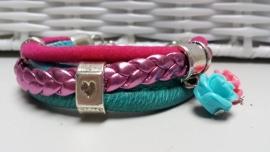 Armband fuchsia, aqua