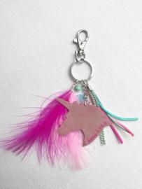 Sleutel/Tas hangers Unicorn evt met naam