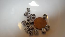 10 metalen kralen met 5mm gat