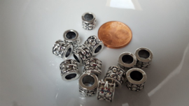10 metalen kralen met 6mm groot gat 1