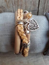 Armband zand gevlochten
