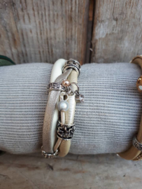 Armband enkel zand / goudkleurig