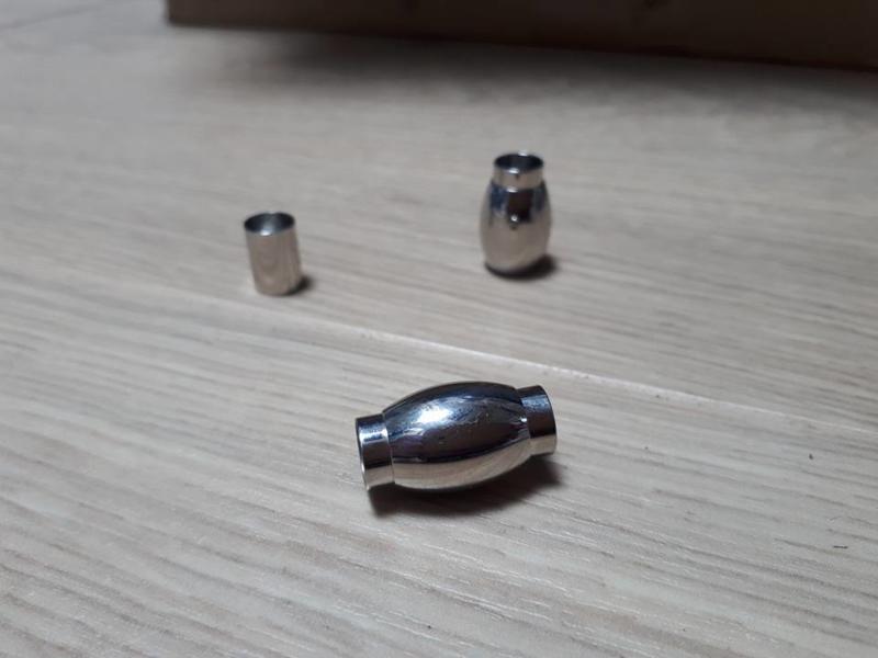 rvs magneetslot ovaal voor 8mm rond leer