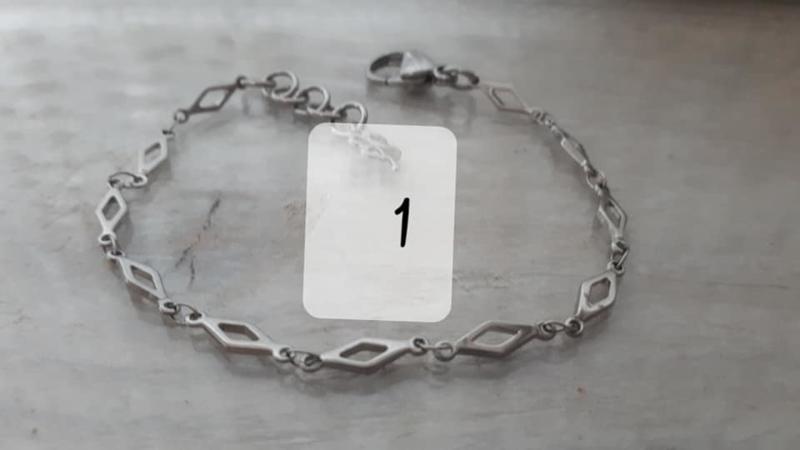RVS armband 1 ruit