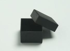 Sieradendoosje 45x45x30 mm Ring Zwart (ZK-0009)