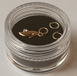 Piercing schoentje (goud)