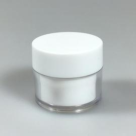 Cosmetica Potje 15 ml transparant met witte binnenpot