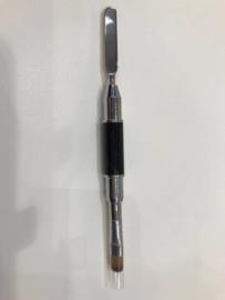 Acryl-gel penseel met spatula