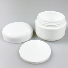Cremepot 100 ml dubbelwandig wit