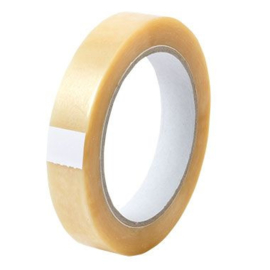 Tape PVC transparant 19 mm x 66 mtr
