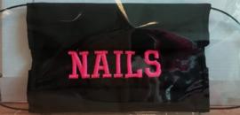 "Mondkapje hand gemaakt ""Nails"""