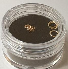 Piercing dobbelsteen (goud)
