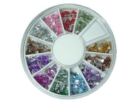 Rhinestones in wheel box, triangle