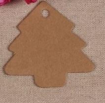 Giftcard kerstboom bruin (55mm x54mm) > 10st.