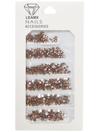 4204242 RhineStones Mix rose gold 1364 pieces