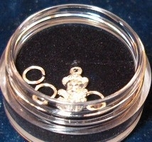 Piercing beertje (zilver)