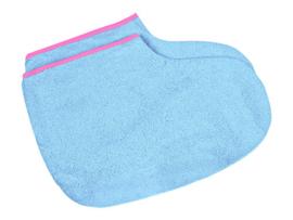 PARAFFINE SLOFFEN / 1 PAAR > Blauw met roze rand