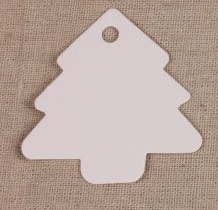 Giftcard kerstboom Wit (55mm x54mm) > 10st.