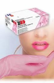 Nitril handschoenen (Anti allergie) roze 100st. in doos.