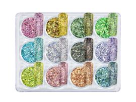 01 - NailArt Diamond Glitter Mix (12st.)