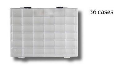 Storagebox met 36 vakjes