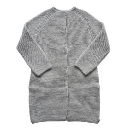 VillVill - Cardigan 100 % wool handknitted - size XL - Grey
