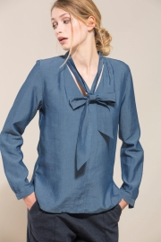 Lanius - Blouse Tencel ribbon