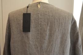 Qneel - Comfy linen dress - Light Grey