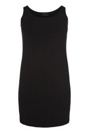 Qneel - Bamboo jersey dress - shaped - dark blue