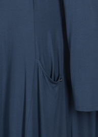QNEEL - jersey lange jurk - Petrol blue