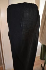 Qneel - Crunch linnen - black