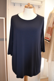 Qneel - Bamboo jersey t'shirt - donker blauw