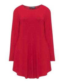 Doris Streich long Sleeve A line top red
