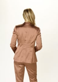 DUE AMANTI - BLAZER SATIJN STRETCH - BRUIN