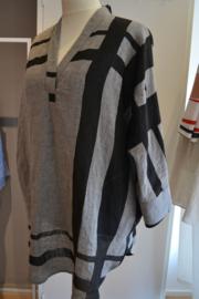 Qneel - Linen top - frost grey