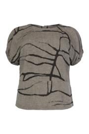 Qneel - Top - linen - frost grey
