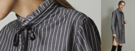 Nadine H  - Blouse with pockets Grey stripe