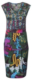 MLY by Emily Hermans - Silk summer stretch dress - Graffitie print
