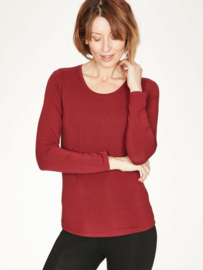 THOUGHT - Bamboo T'shirt  - Ruby red