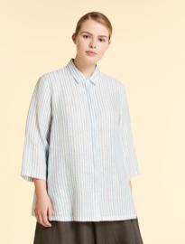 Marina Rinaldi - linen shirt - white stripe
