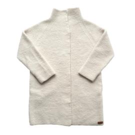 VillVill - Cardigan 100% wool handknitted & Felted - Medium - Cream