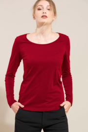 Lanius longsleeve organic cotton - red