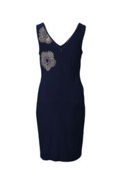 Joseph Ribkoff - Dress Dark Blue with gold studs