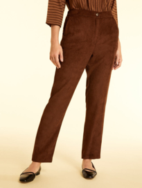 MARINA RINALDI - VELVET TROUSERS BROWN