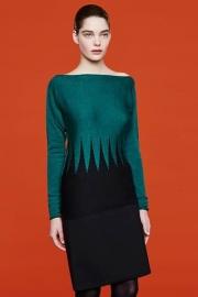 Firkant - Pullover merino wool extra fine Green