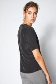 Lanius - Top Silk stonewash black